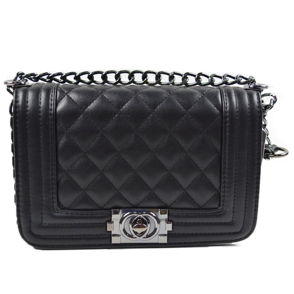 6b4180add Bolsa Chanel Inspired Preta - Lelive